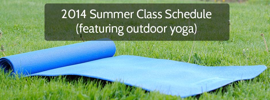 2014 Summer Class Schedule