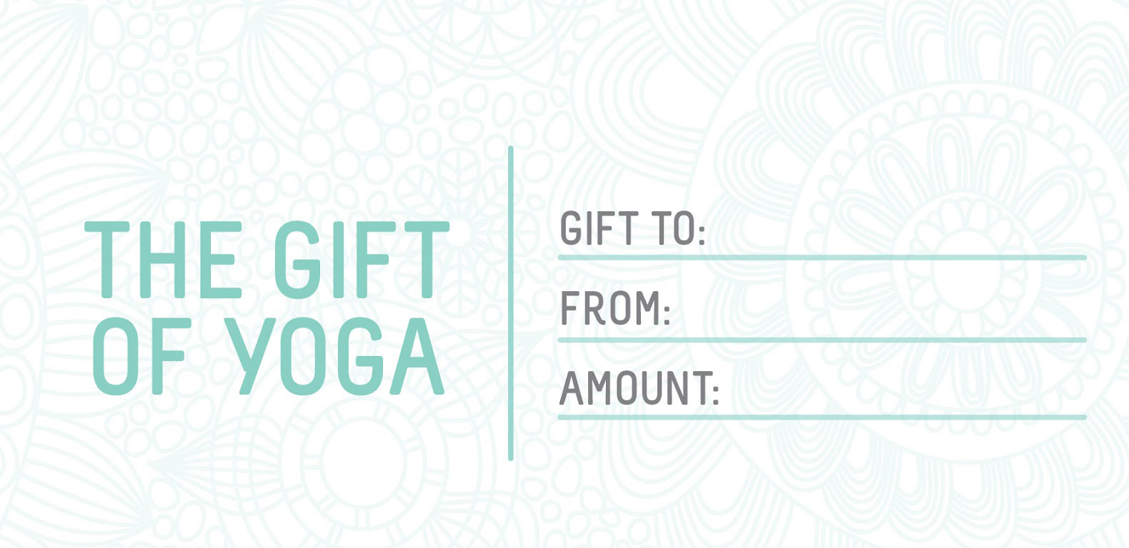 Catherine Reid Yoga Gift Certificates