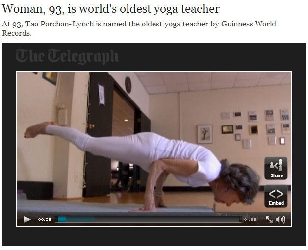 The World's Oldest Yoga Teacher