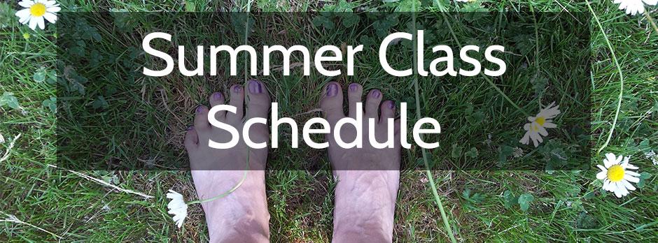 2015 Summer Class Schedule