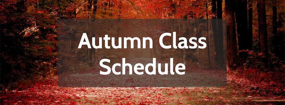 2015 Autumn Schedule