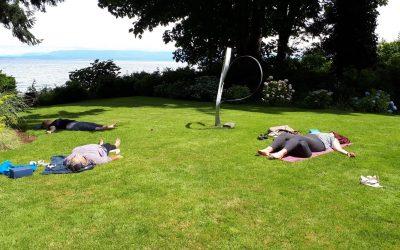 Outdoor yoga classes starting in June